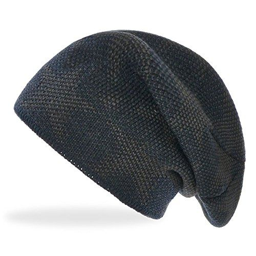 photo Wallpaper of Daleus-Damen Slouch Beanie Winter Mütze Gefüttert Thermo Unisex No 15785, Farbe:Navy, Größe:One Size-Navy