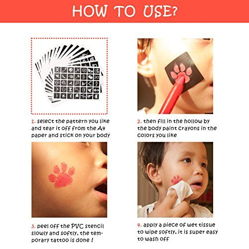 photo Wallpaper of MAPLE UK-282Designs Gesicht Farbe Schablonen Body Schablonen Glitzer Body Art Tattoo Schablonen Halloween Party-rose