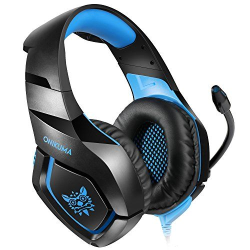 photo Wallpaper of ONIKUMA-ONIKUMA PS4 Gaming Headset über Ohr Stereo Gaming Kopfhörer Mit Noise Cancelling Mic-Black+Blue