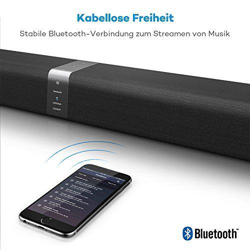 photo Wallpaper of TaoTronics-Soundbar Bluetooth Lautsprecher TaoTronics, 2.0 Kanal, 2 Kabellose Subwoofer, 40W Lautsprecher, Doppelte Verbindungsmöglichkeiten,-schwarz