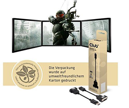 photo Wallpaper of Club 3D-Club3D Displayport Zu DVI Single Link Kabel Aktiv-Schwarz