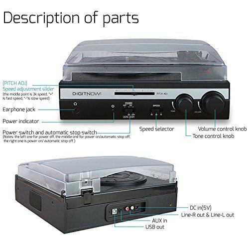 photo Wallpaper of DIGITNOW!-DIGITNOW! Plattenspieler Mit Integrierten Lautsprecher System Lautsprecher Hi Fi (Riemenantrieb,-M401