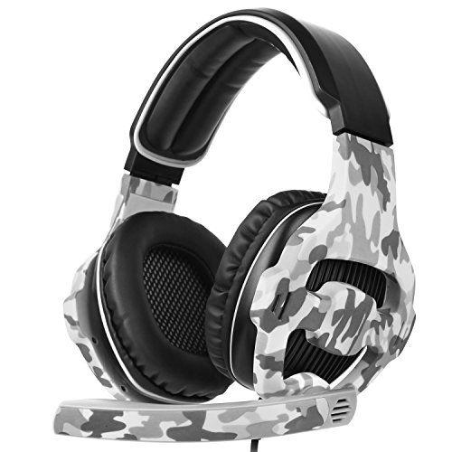 photo Wallpaper of Sades-SADES SA810 Neu Aktualisiert Xbox One Mikrofon PS4 Headset Over Ear Stereo Gaming-SA810Camouflage