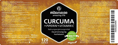 photo Wallpaper of Vitamaze - amazing life-Cápsulas De Cúrcuma + Curcumina Piperina Altamente Concentrada + Vitamina C,-