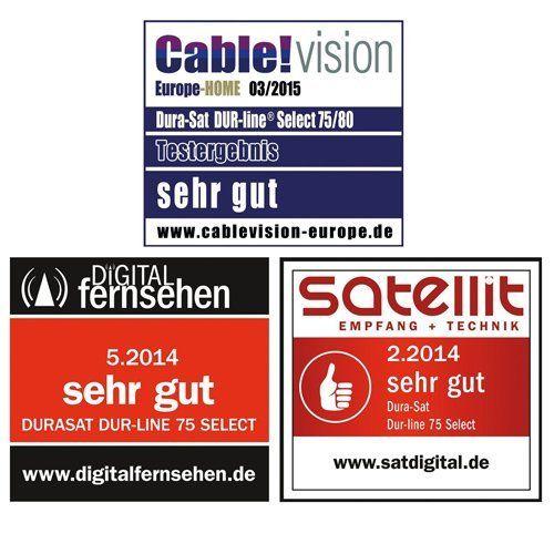 photo Wallpaper of HB-DIGITAL-HB Digital 8 Teilnehmer SET   Dur Line Select ALU SAT Anlage-Spiegel: Hellgrau, LNB: Weiß