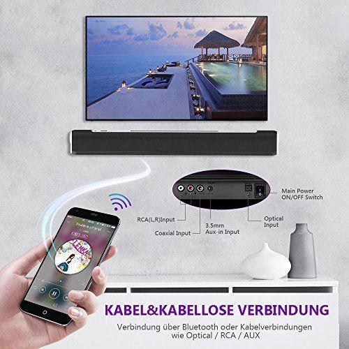 photo Wallpaper of MindKoo-Soundbar Bluetooth, MindKoo 33 Zoll Kräftige Bass Sound Bar Verdrahtete Und-Schwarz