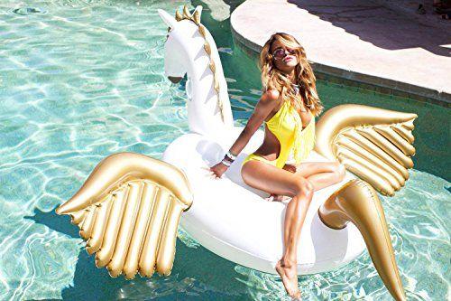 photo Wallpaper of Jasonwell-Jasonwell Riesiger Aufblasbar Pegasus Luftmatratze Aufblasbarer Pegasus Schwimmtier Schwimminsel Schwimmreifen Pool-Pegasus