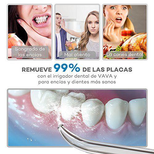 photo Wallpaper of VAVA-Irrigador Dental Portátil VAVA (Impermeable IPX7, Inalámbrico, 3 Modos, 220ml) Mejorar Sangrado-Blanco