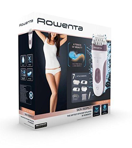 photo Wallpaper of Rowenta-Rowenta Skin Respect EP8060F0   Depiladora, Sin Cable Y Utilizable Bajo El-Gris, Blanco