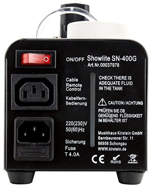 photo Wallpaper of Showlite-Showlite SN 400B Blau LED Nebelmaschine Inkl. Kabelfernbedienung + 5 L Nebelfluid SET-