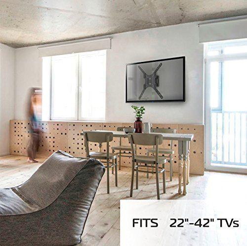photo Wallpaper of ONKRON-ONKRON TV Wandhalterung Neigbar Schwenkbar Für LED LCD OLED Plasma &-Schwarz