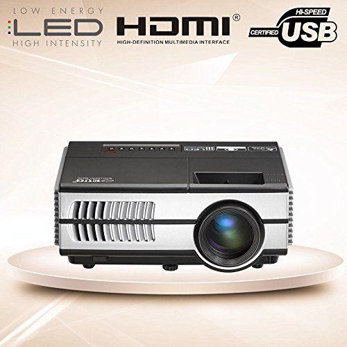 photo Wallpaper of EUG-Mini LED Beamer Tragbar LCD Videoprojektor Heimkino 1500 Lumen HDMI-