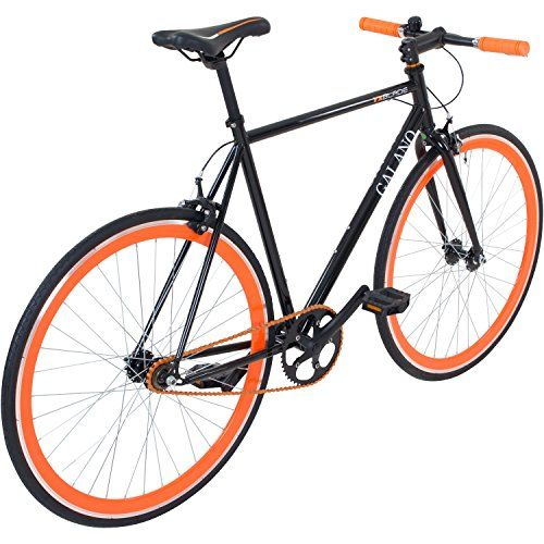 photo Wallpaper of Galano-700C 28 Zoll Fixie Singlespeed Bike Galano Blade 5 Farben-Schwarz / Orange