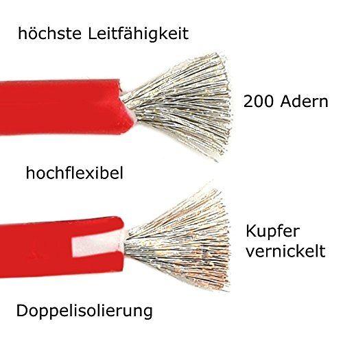 photo Wallpaper of Komerci-Komerci HP 9103 1 Paar Hochflexible Messleitungen 100cm Bananenstecker Krokodilklemme Rot Schwarz Laborkabel-rot / schwarz