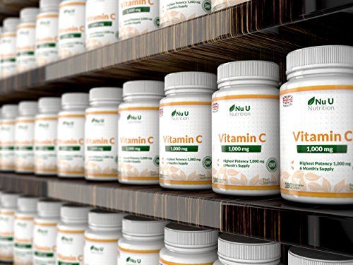 photo Wallpaper of Nu U Nutrition-Vitamina C   1000 Mg   180 Comprimidos (Suministro Para-