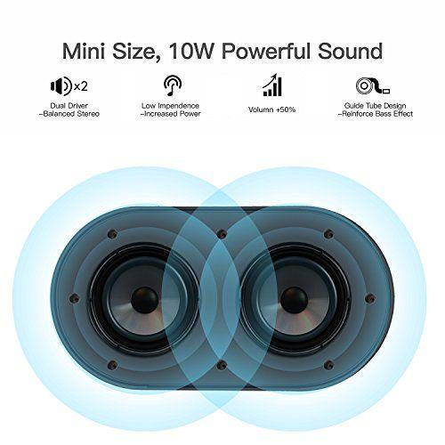 photo Wallpaper of iGOKU-Bluetooth Lautsprecher, IGOKU SoundCore 4.2 Mobiler Wireless Bluetooth Speaker 10W+ Lautsprecher,-