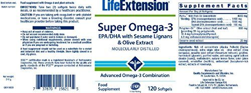 photo Wallpaper of Life Extension Europe-Life Extension Super Omega 3 EPA/DHA (120 Softgels)-