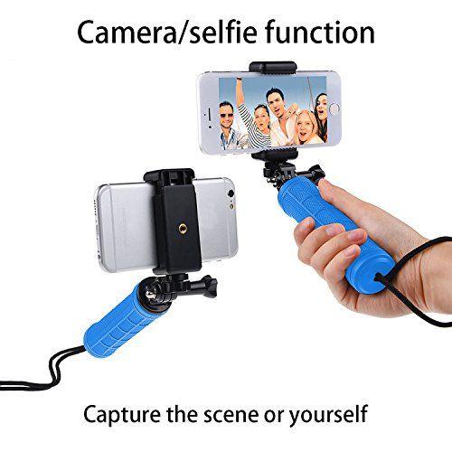 photo Wallpaper of first2savvv-FIRST2SAVVV GO ST GJ A03 Kamera Handgriff Kamera Stativ Kamera Stabilisator Kamera Grip Kamera-Griff Stabilisator blau