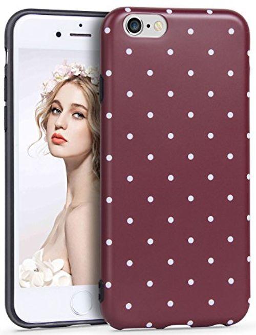 photo Wallpaper of Imikoko-IPhone 6/6s Hülle,Imikoko® IPhone 6/6s Rundumschutz Handy Hülle Schutzhülle Elegant-Dunkelrot