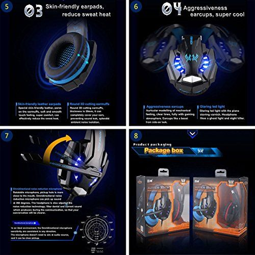 photo Wallpaper of KOTION EACH-KOTION EACH G9000 3,5 Mm Noise Cancelling Gaming Headset Mit Mikrofon-schwarz + rot
