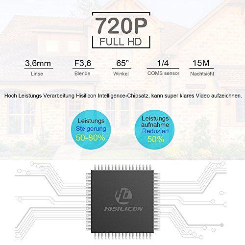 photo Wallpaper of ieGeek-[Verbesserte] IeGeek IP überwachungskamera / IP Kamera 720P HD Wasserdicht Wlan Sicherheitskamera-Schwarz