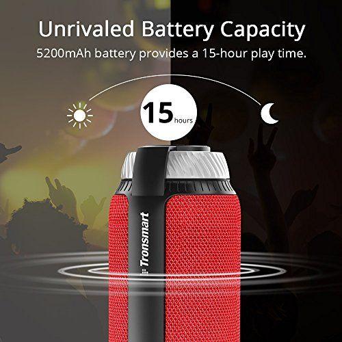photo Wallpaper of Tronsmart-Tronsmart Bluetooth Lautsprecher, 25 Watt Tragbare Lautsprecher, 360° Surround Sound,-Rot
