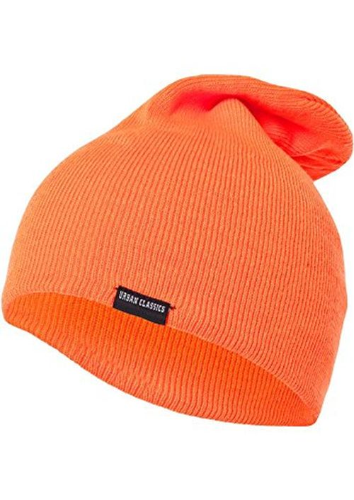 photo Wallpaper of Urban Classics-Urban Classics Unisex Strickmütze Neon Long Beanie, Orange (Orange 00180), One-Orange (Orange 00180)