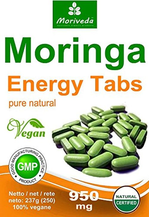 photo Wallpaper of MoriVeda-Moringa 500 Energía Tabs 950mg, 100% Naturales, Non Cápsulas (2x250 Tabletas)-