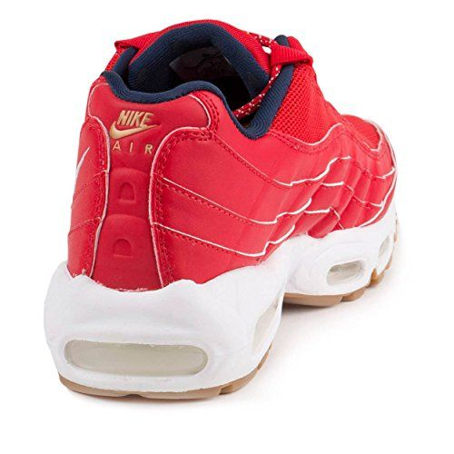 photo Wallpaper of Nike-Nike Mens Air Max 95 Prm 4th Of July University Red/White-University Red/White-mid Navy