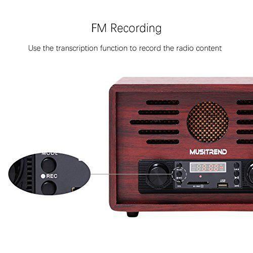 photo Wallpaper of Musitrend-MUSITREND Nostalgie Retro Radio MP3 Player, AM/FM Kristallklarer Klang Und-Novelty Radios