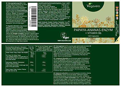 photo Wallpaper of Vegavero-Papaína (Papaya) Y Bromelina (Piña) + Vitamina B6 De Vegavero | Digestión + Antiinflamatorio-