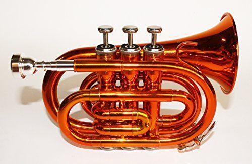 photo Wallpaper of Cherrystone-Cherrystone Taschentrompete Pocket Trompete Mit Koffer Orange-orange