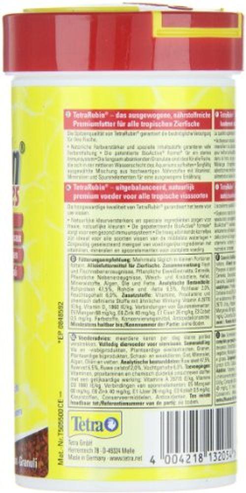 photo Wallpaper of Tetra-TetraRubin, Hauptfutter In Granulatform Mit Natürlichen Farbverstärkern Für Zierfische, Für-Granules 250 ml