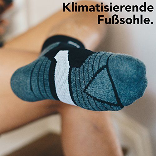 photo Wallpaper of Snocks-Snocks Damen & Herren Running Socken (5 Paar) Ideal Zum Joggen, Laufen,-Schwarz