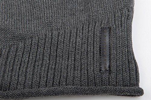 photo Wallpaper of styleBREAKER-StyleBREAKER Warme Feinstrick Beanie Mütze Mit Sehr Weichem Fleece Innenfutter, Unisex-- Dunkelgrau