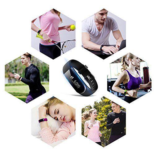 photo Wallpaper of Ironpeas-Fitness Tracker, Fitness Armbanduhr HR Pulsuhr Schrittzähler Schlaf Monitor Kalorienzähler-Schwarz