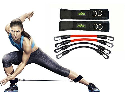 photo Wallpaper of FIGROL-FIGROL Speed And Strength Resistance Bands For Legs Workout Whole-Leg Resistance Bands