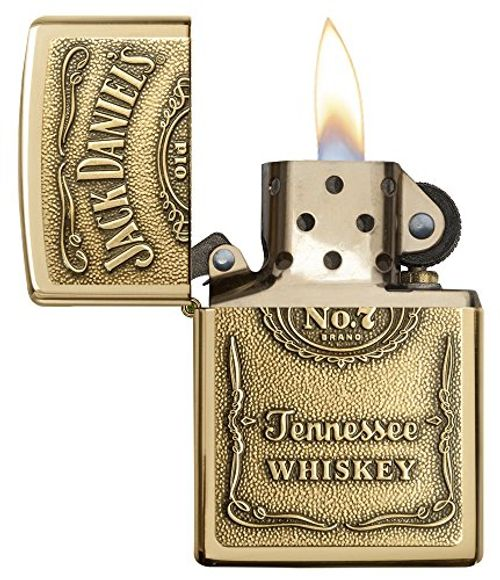 photo Wallpaper of Zippo-Zippo 1350003 Jack Daniel's Label Brass   Mechero Con-Bronce