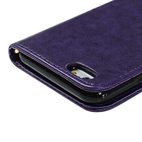 photo Wallpaper of YOKIRIN-IPhone 6 / 6S Hülle (4,7 Zoll) Wallet Case Flip Hülle-Lila