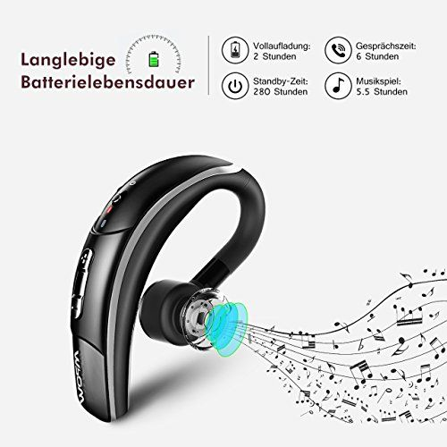 photo Wallpaper of Mpow-Mpow Bluetooth Headset [Geschäft Stil] Wireless Headset Freisprechen-Schwarz