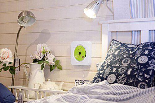 photo Wallpaper of KECAG-KECAG CD Player Wandmontierbar Bluetooth Lautsprecher Portable Home Audio Mit Fernbedienung FM Radio Eingebauter-weiß