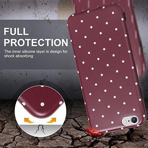 photo Wallpaper of Imikoko-IPhone 6/6s Hülle,Imikoko® IPhone 6/6s Rundumschutz Handy Hülle Schutzhülle Elegant Protective Schützend-Dunkelrot