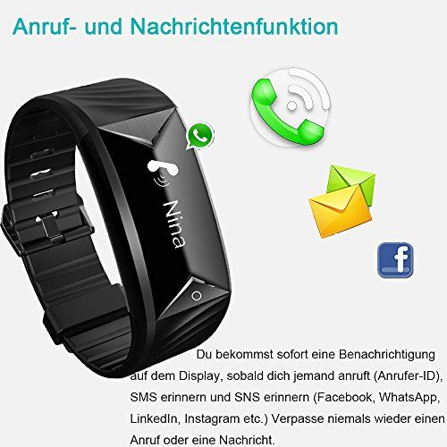 photo Wallpaper of YAMAY-Fitness Armband,Yamay Fitness Tracker Mit Herzfrequenz Wasserdicht IP67 Smart Watch Pulsuhren Aktivitätstracker Schrittzähler-Schwarz