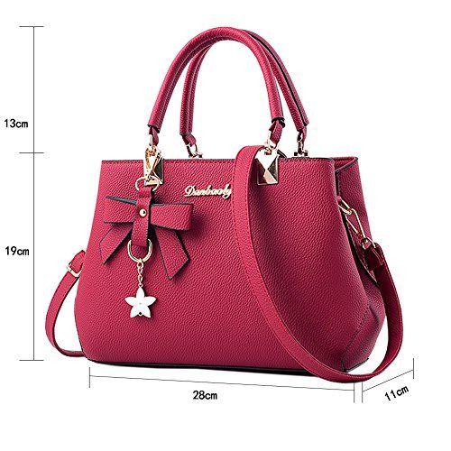 photo Wallpaper of Magic Zone-Magic Zone Damen Handtaschen Fashion Handtaschen Für Frauen PU Leder Schulter Taschen-Red