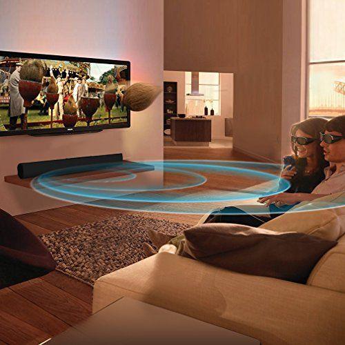photo Wallpaper of meidong-Soundbar (neue Version) Bluetooth Lautsprecher Meidong 2.1 Kanal 2 Subwoofer Speakers, 40W-Black