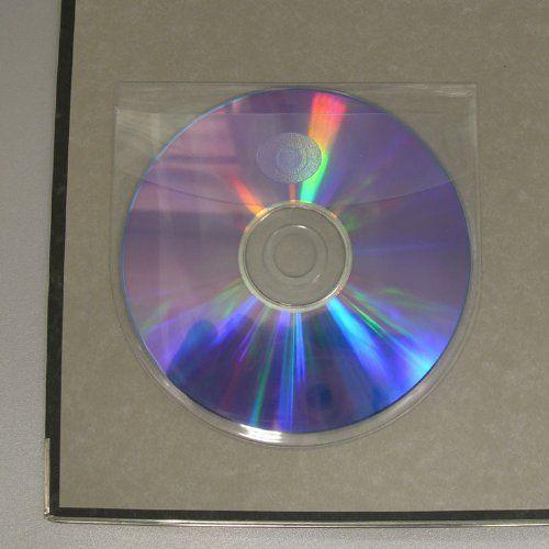 photo Wallpaper of KLEBESHOP24-CD Taschen Selbstklebend | Transparent | Mit Klappe | 20 Oder 100 Stück-