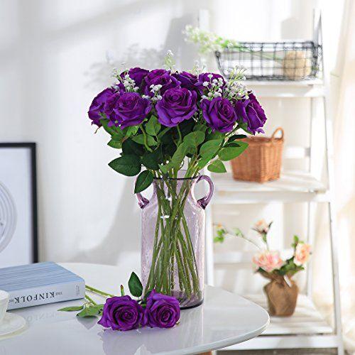 photo Wallpaper of JUSTOYOU-JUSTOYOU Tall Gypsophila Künstliche Blumen White Fake Blumen Für Zu Hause-weiß