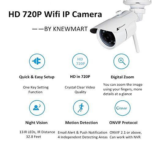 photo Wallpaper of KNEWMART-KNEWMART Ip Kamera Wlan Wifi Aussen Outdoor Sicherheitskamera Für Außen HD Überwachungskamera HD IP-Weiß