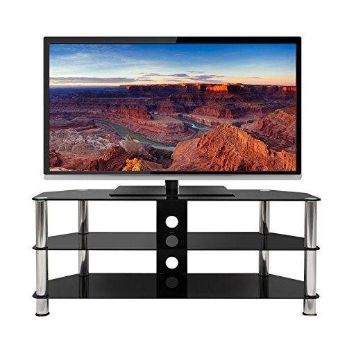photo Wallpaper of Mountright-Mountright – Schwarzer Fernsehschrank Aus Glas, 120cm Breit, Für Fernseher Bis Zu-Black, Aluminium