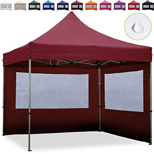 photo Wallpaper of TOOLPORT-TOOLPORT Faltpavillon Faltzelt 3x3m   2 Seitenteile ALU Pavillon Partyzelt-rot